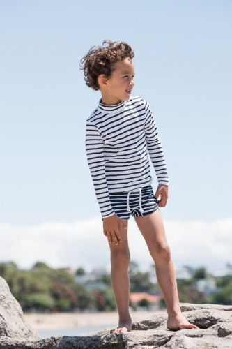 Swimshirt long sleeve stripes