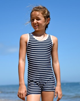 Classic bather various coloured stripes